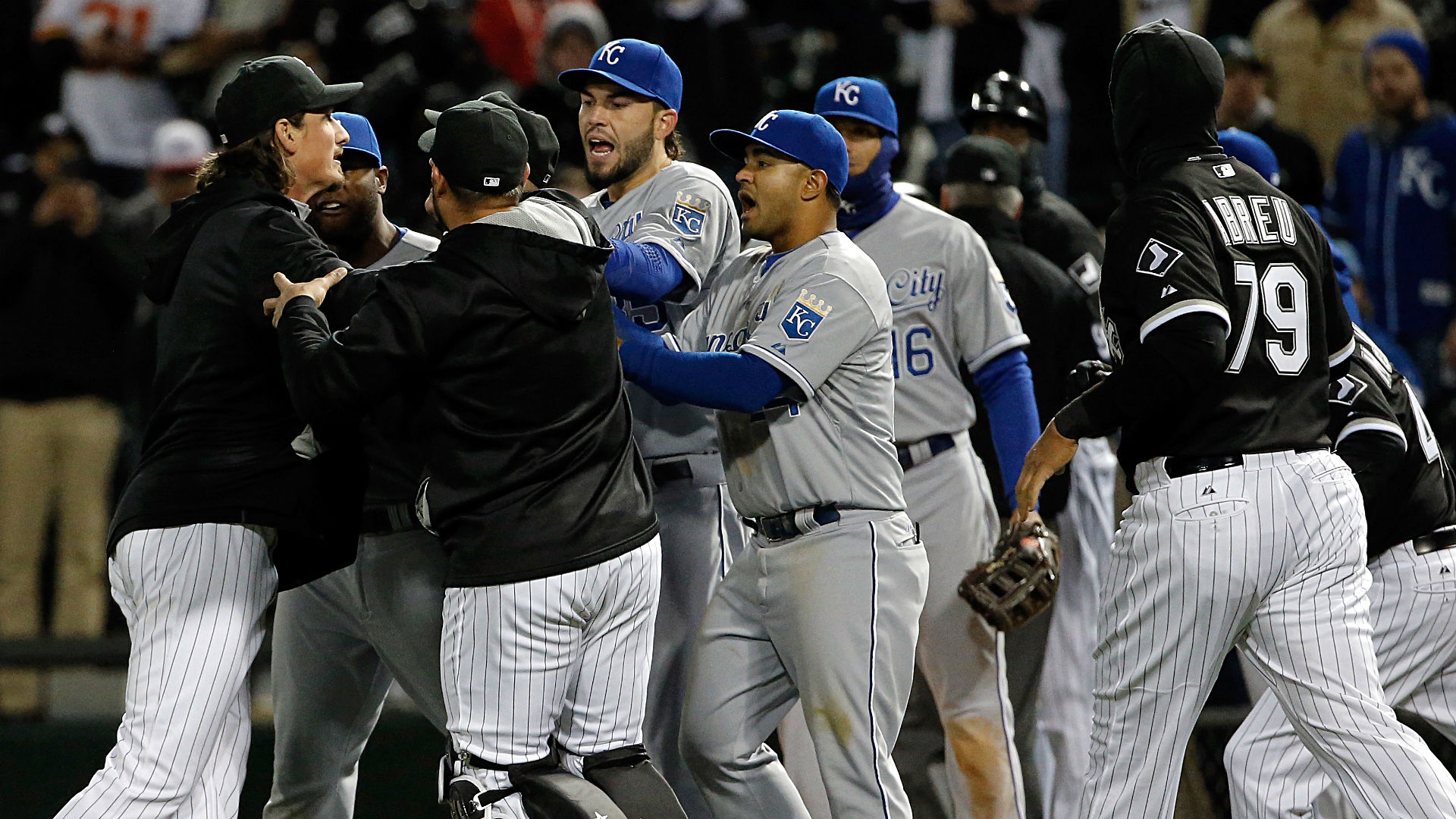 Four Royals, two White Sox suspended after Thursday night's brawl