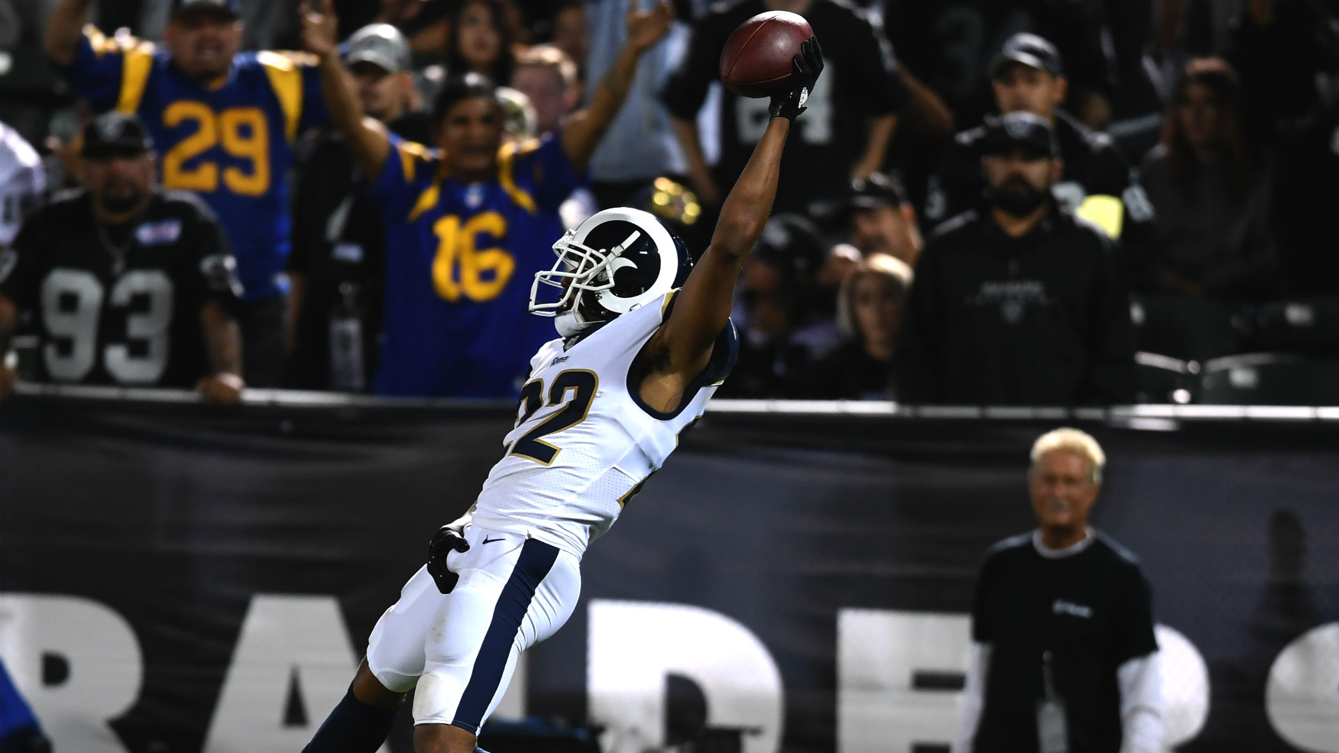 Rams' Marcus Peters fined $13,000 for goal-line grab