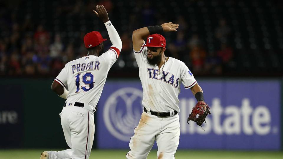 WATCH: Rangers' rare 5-4 triple play is one for the books