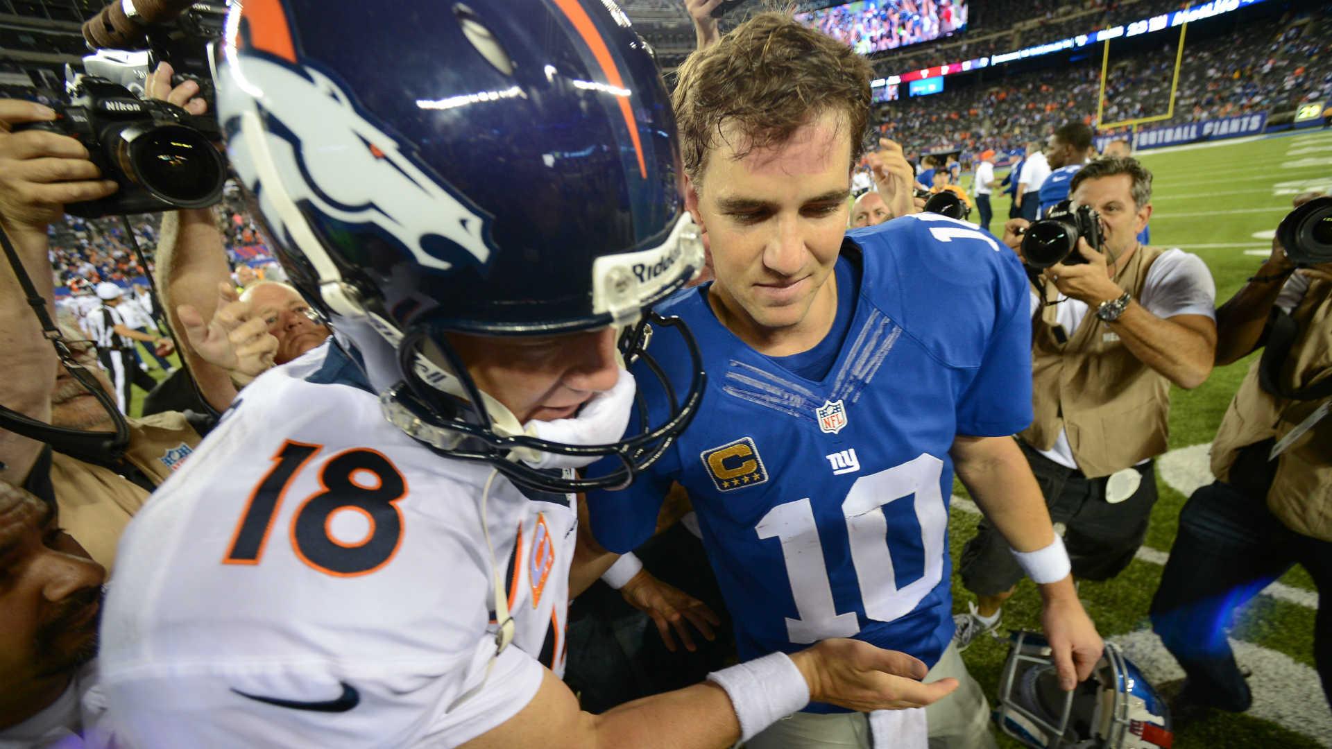 Peyton, left, and Eli Manning