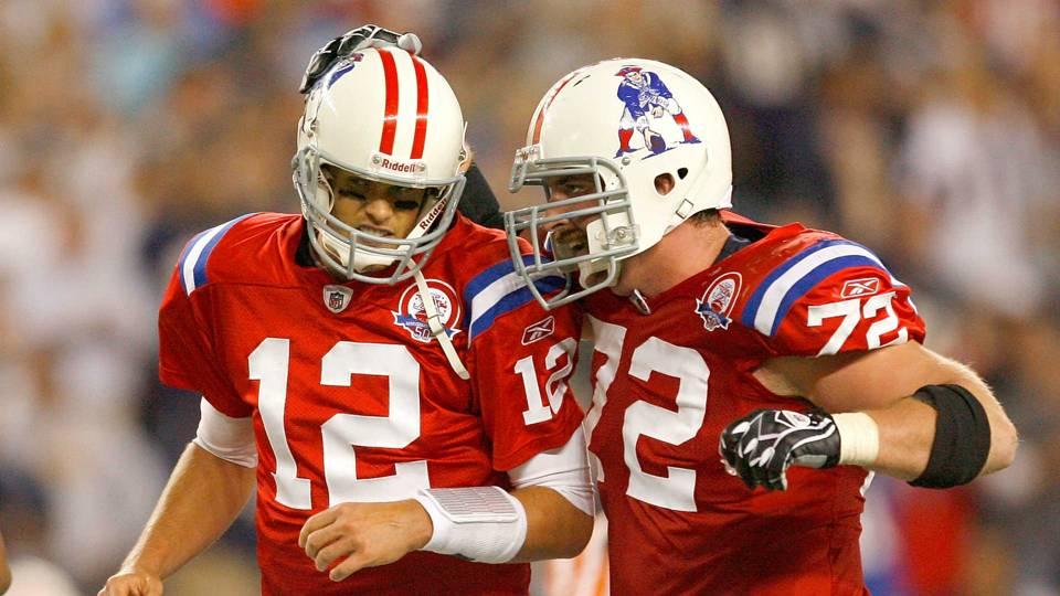 Tom Brady, left, and Matt Light