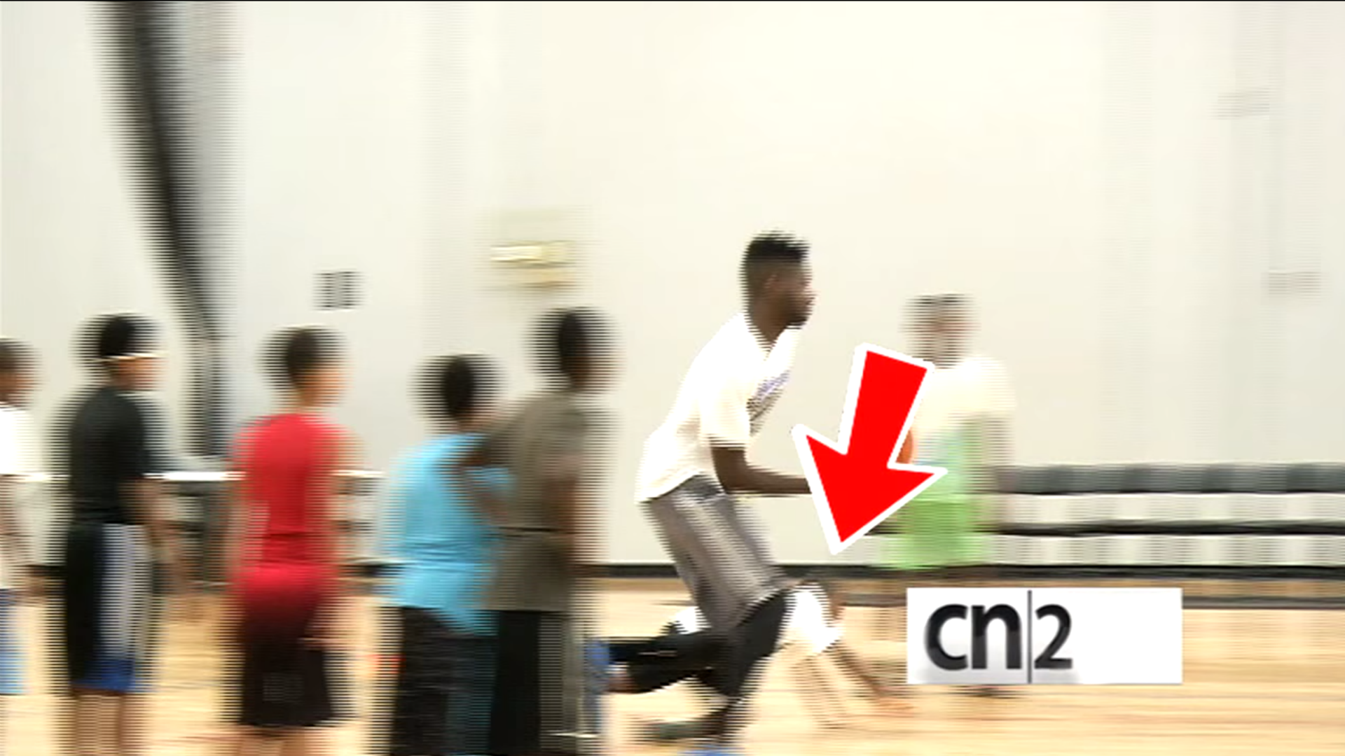 Nerlens Noel has no chill, dunks on little children