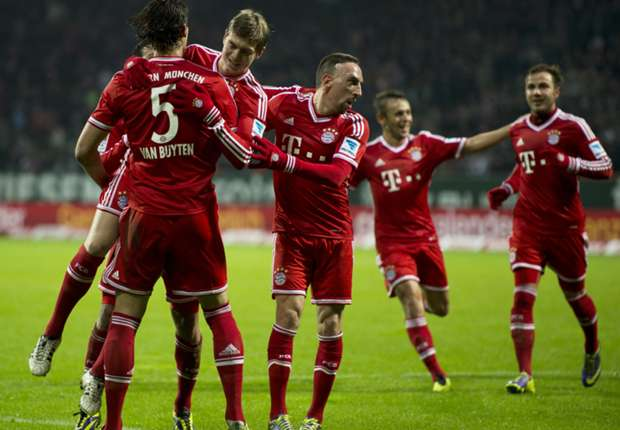 Watch Bayern Munich demolish Werder Bremen in seven goal rout
