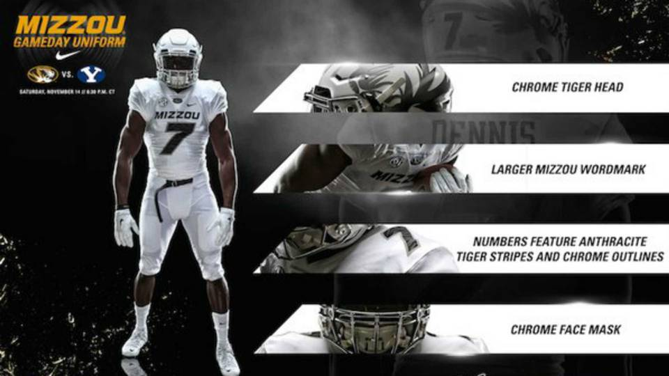 Missouri rolls out all-white uniforms after black players  threatened  boycott 45ca87aa6
