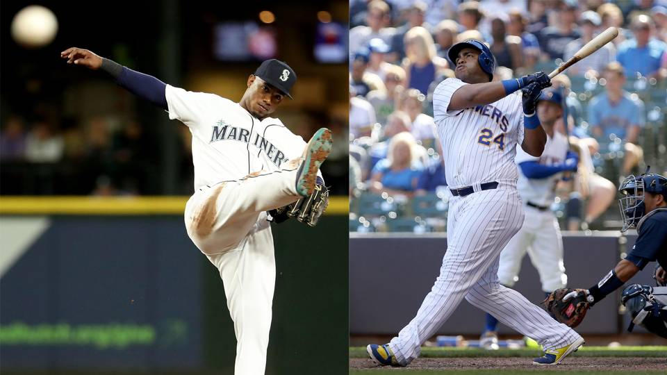Jean Segura (left) and Jesus Aguilar (right)