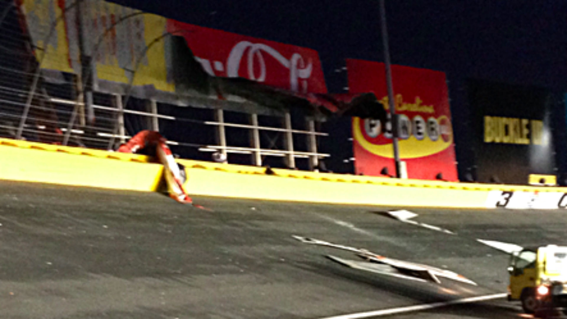 Thunderstorm Causes Damage At Charlotte Motor Speedway