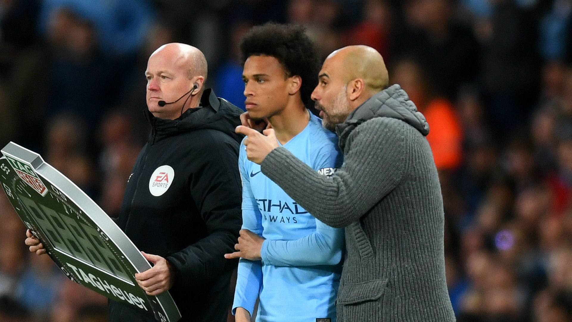 Bayern target Sane would be better off at Man City, says Pep