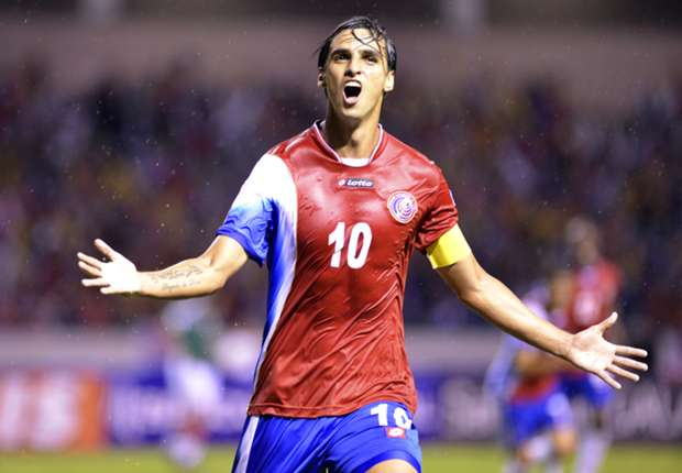 Costa Rica forward Bryan Ruiz