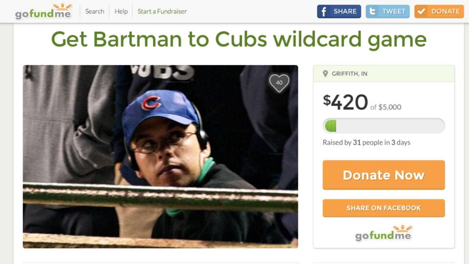 The GoFundMe page