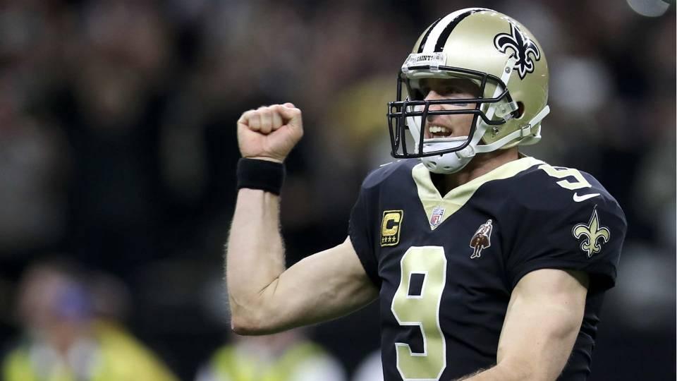Saints QB Drew Brees passes Brett Favre for most career completions · NFL 269781582
