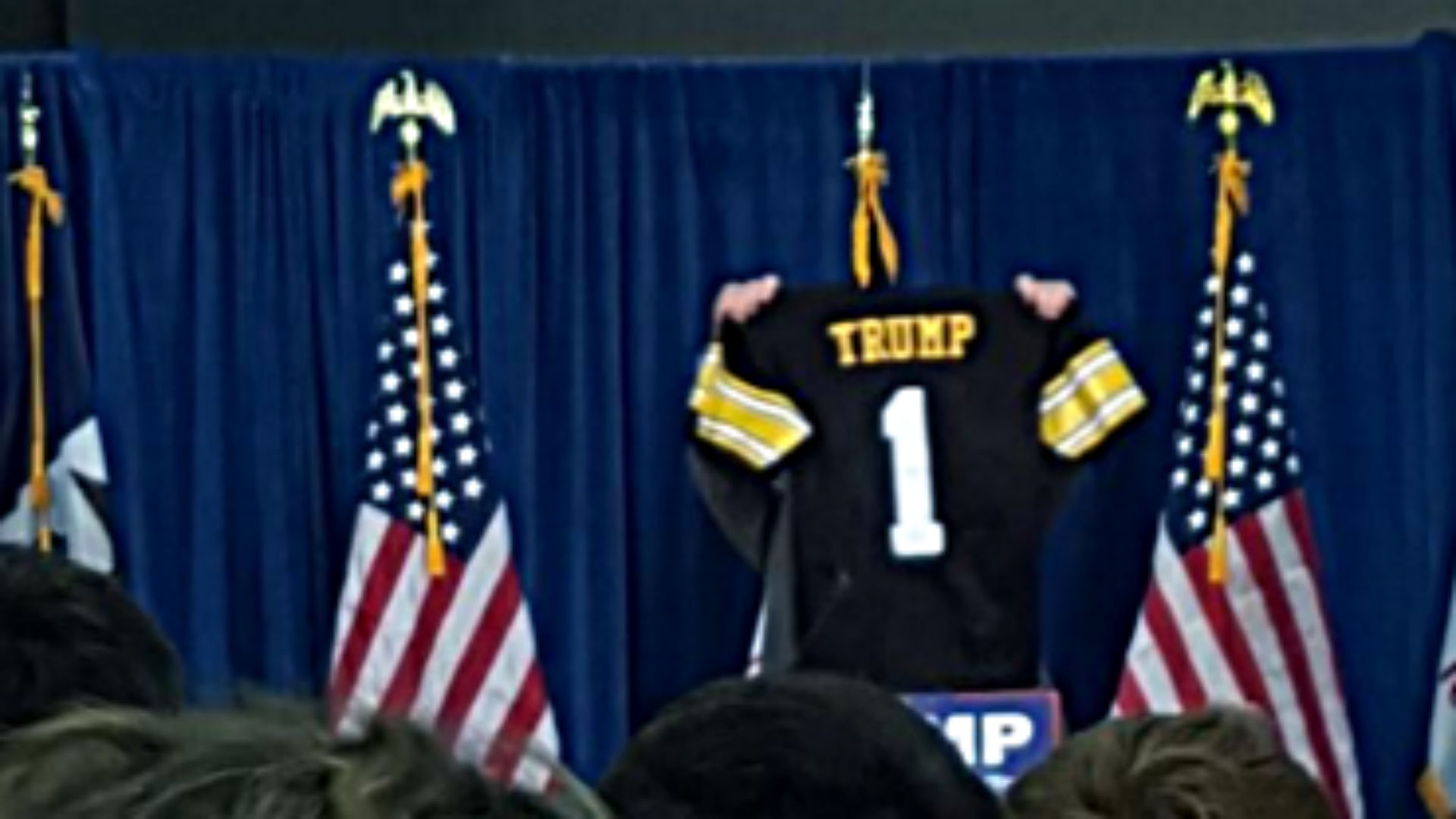 Donald Trump appears at University of Iowa political rally