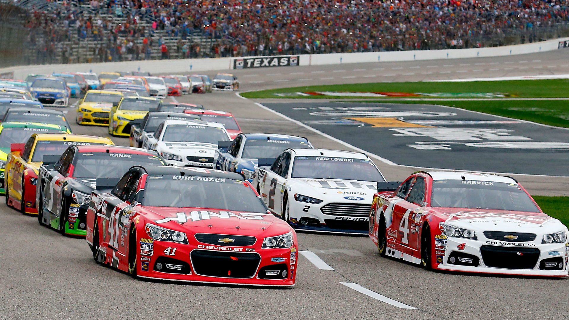 Kevin harvick texas motor sdway for Starting lineup texas motor speedway