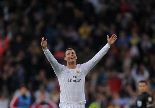 Cristiano Ronaldo celebrates against Osasuna