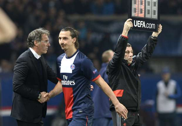 Ibrahimovic's absence changes everything, admits PSG boss Blanc