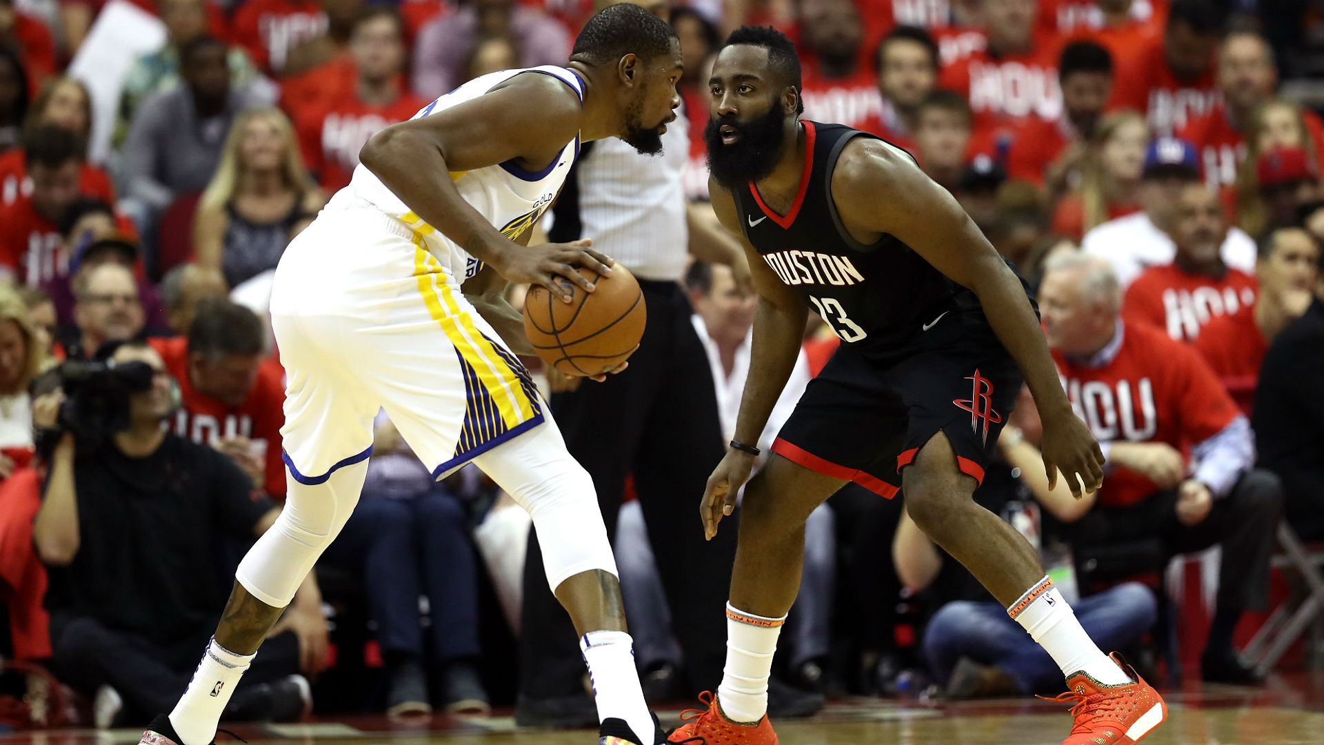 Warriors down Rockets in opening game of Western Conference finals