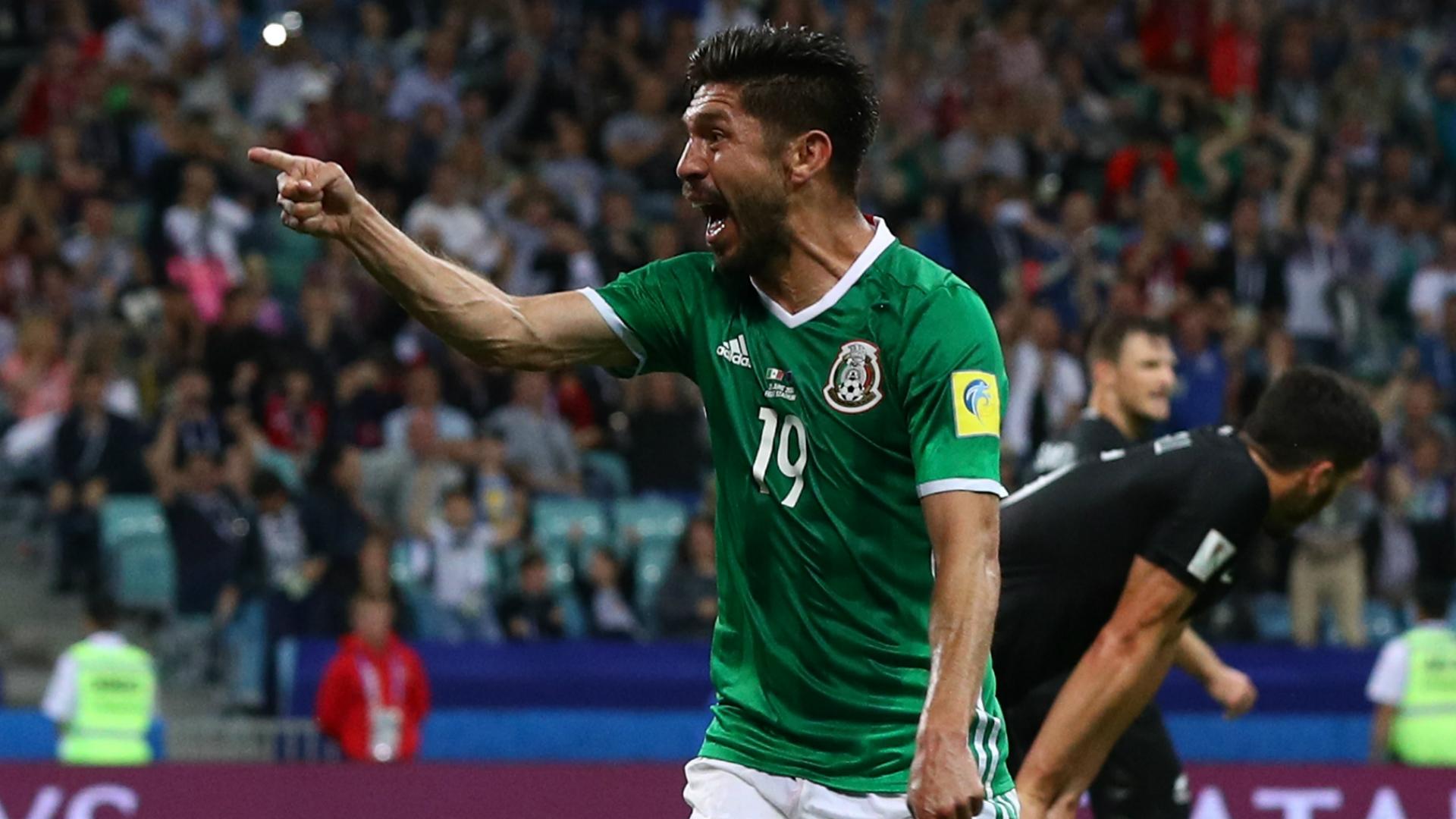 Peralta celebrates for Mexico