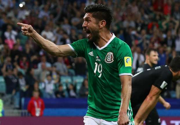 Peralta celebrates for Mexico