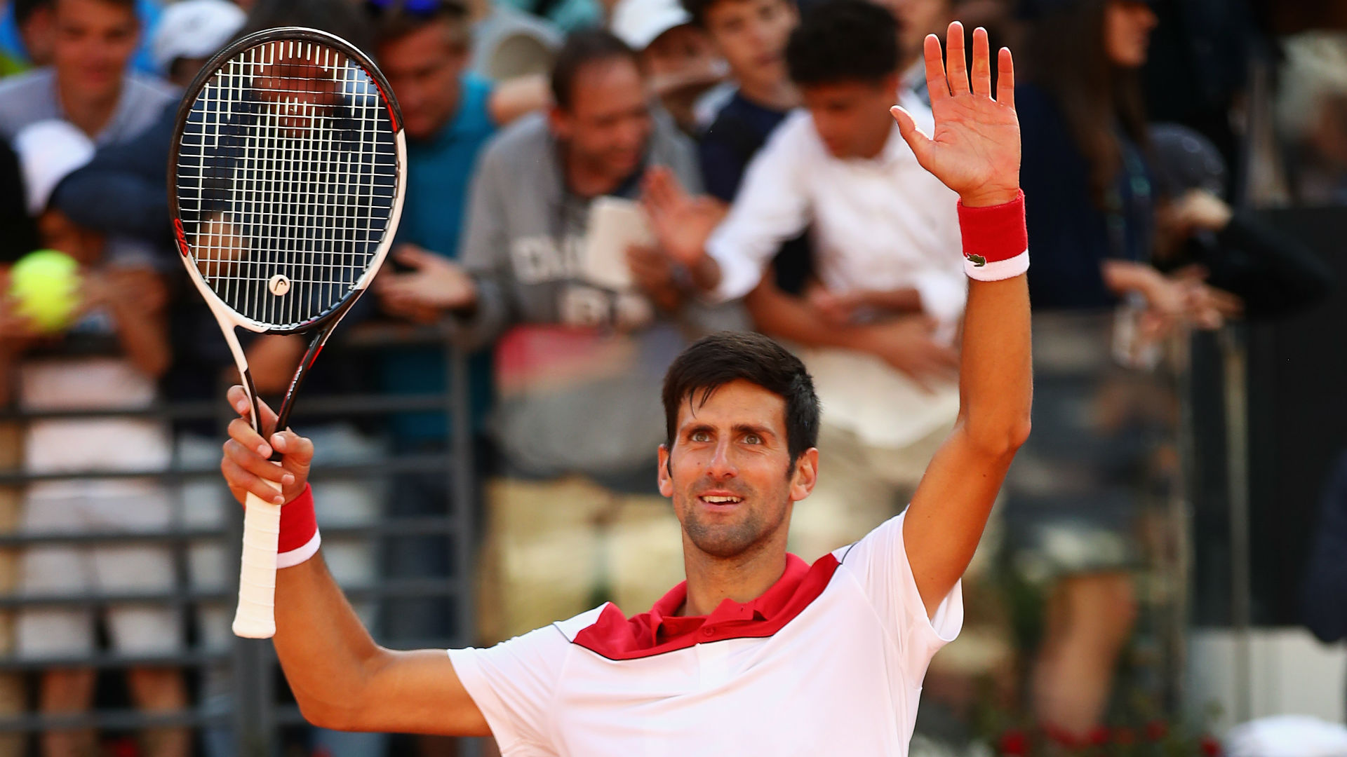 Solid start for Djokovic in Rome class=