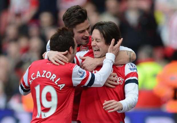 Arsenal midfielder Rosicky relishing clash with 'physical' Stoke