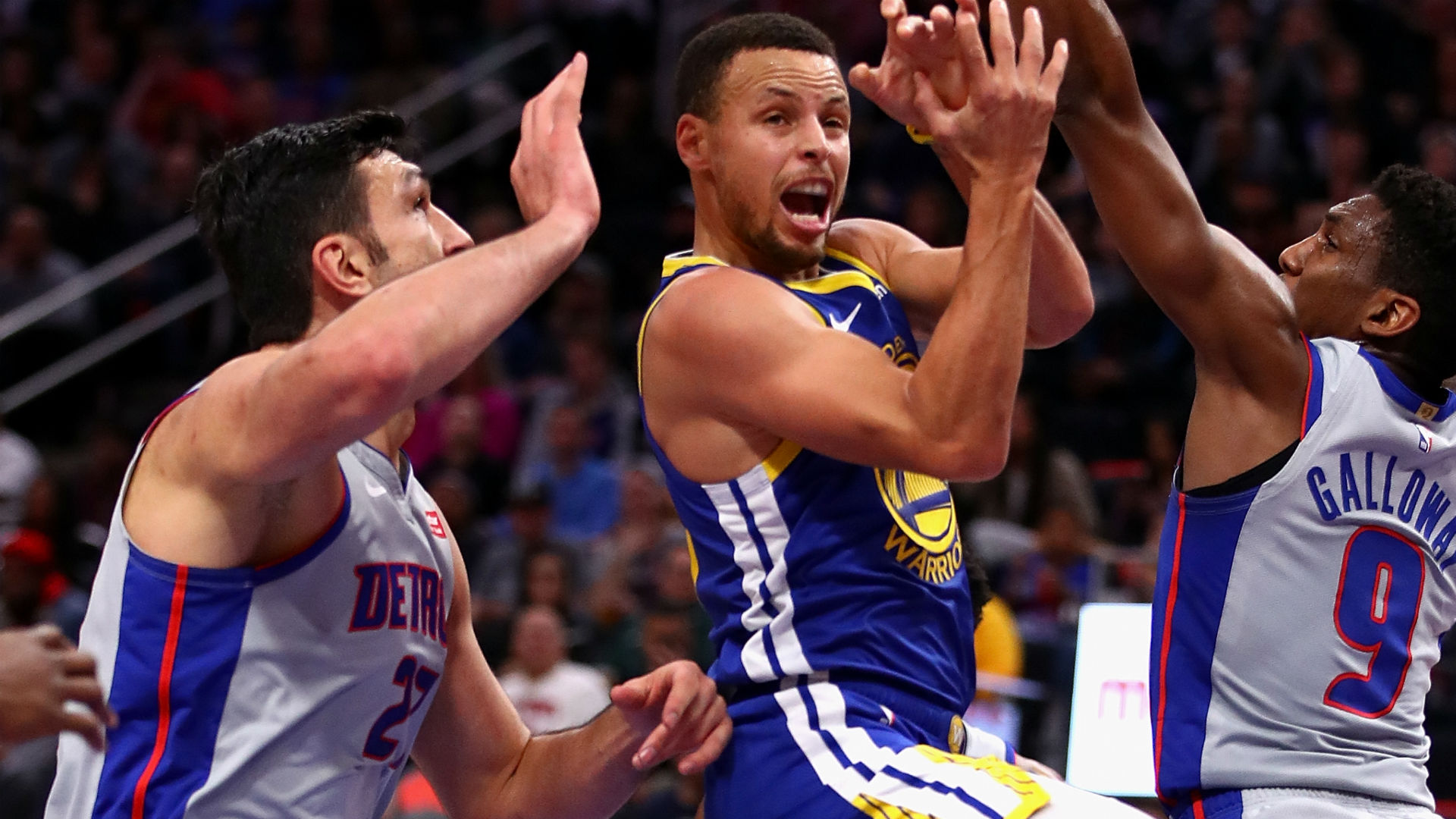 Warriors fall to Pistons in Curry's return
