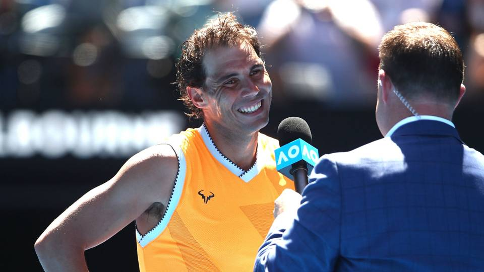 Australian Open 2019  Rafael Nadal catches journalist snoozing in media  conference 94fdab1973da5