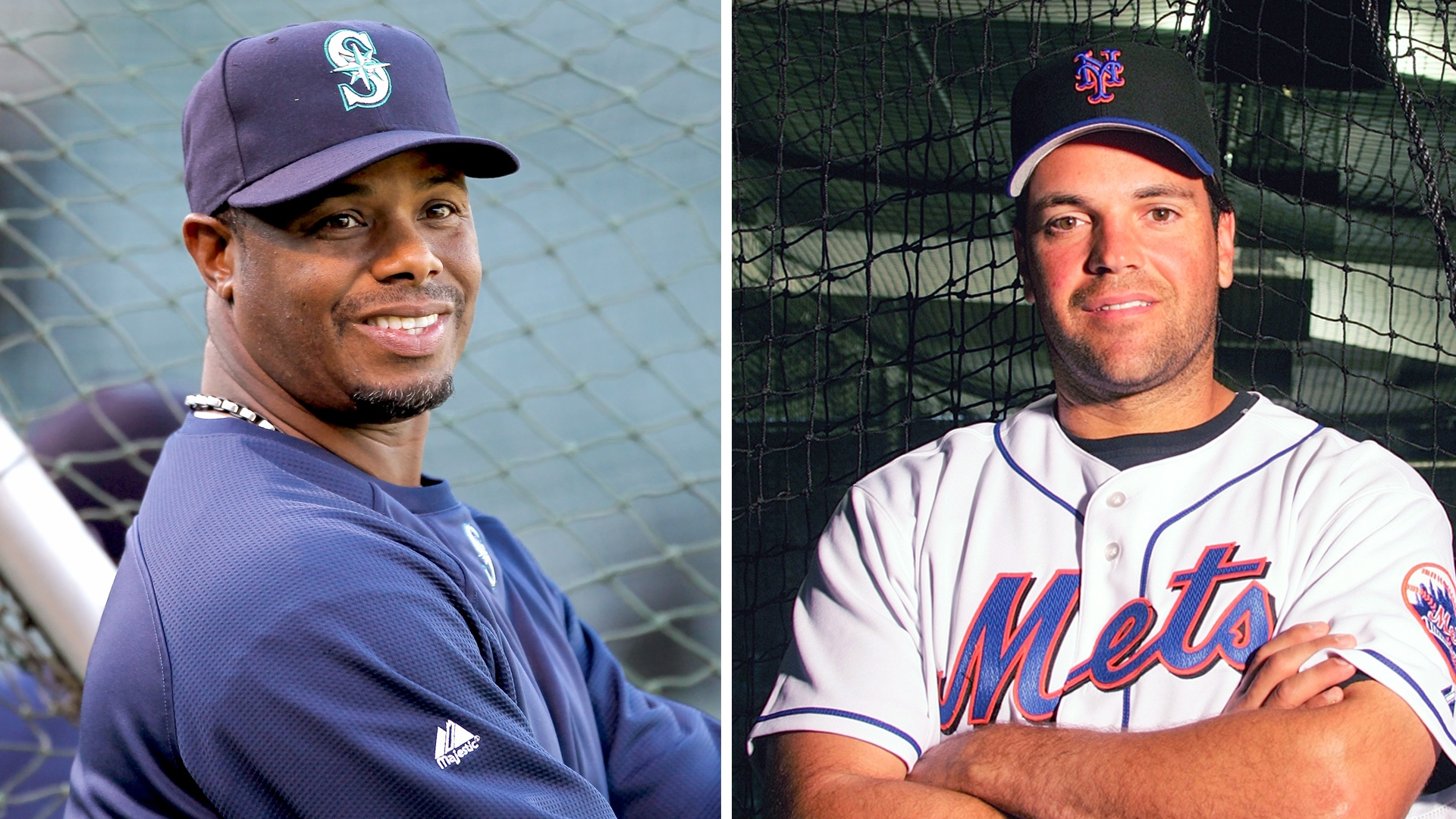 Ken Griffey Jr. and Mike Piazza