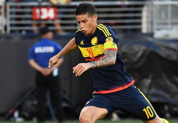 Colombia captain James Rodriguez