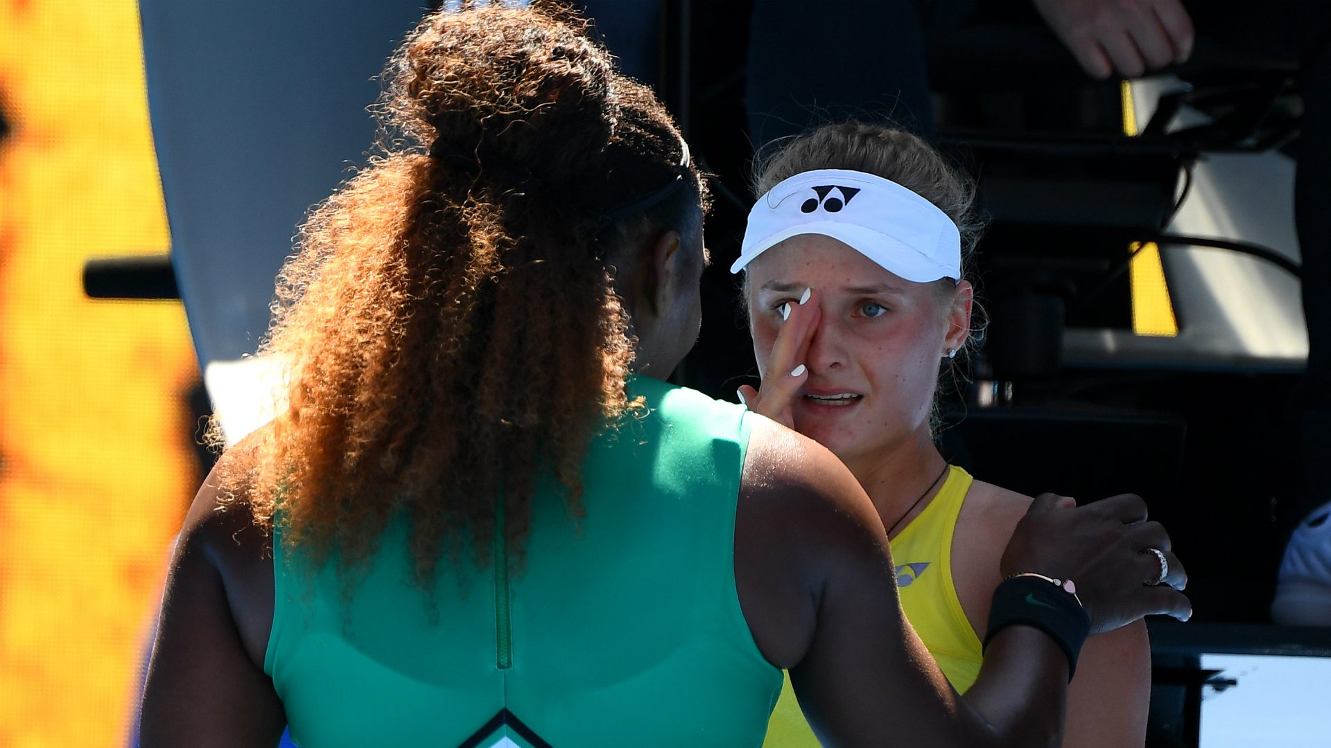 'Don't cry': Serena Williams consoles Dayana Yastremska; Simona Halep next