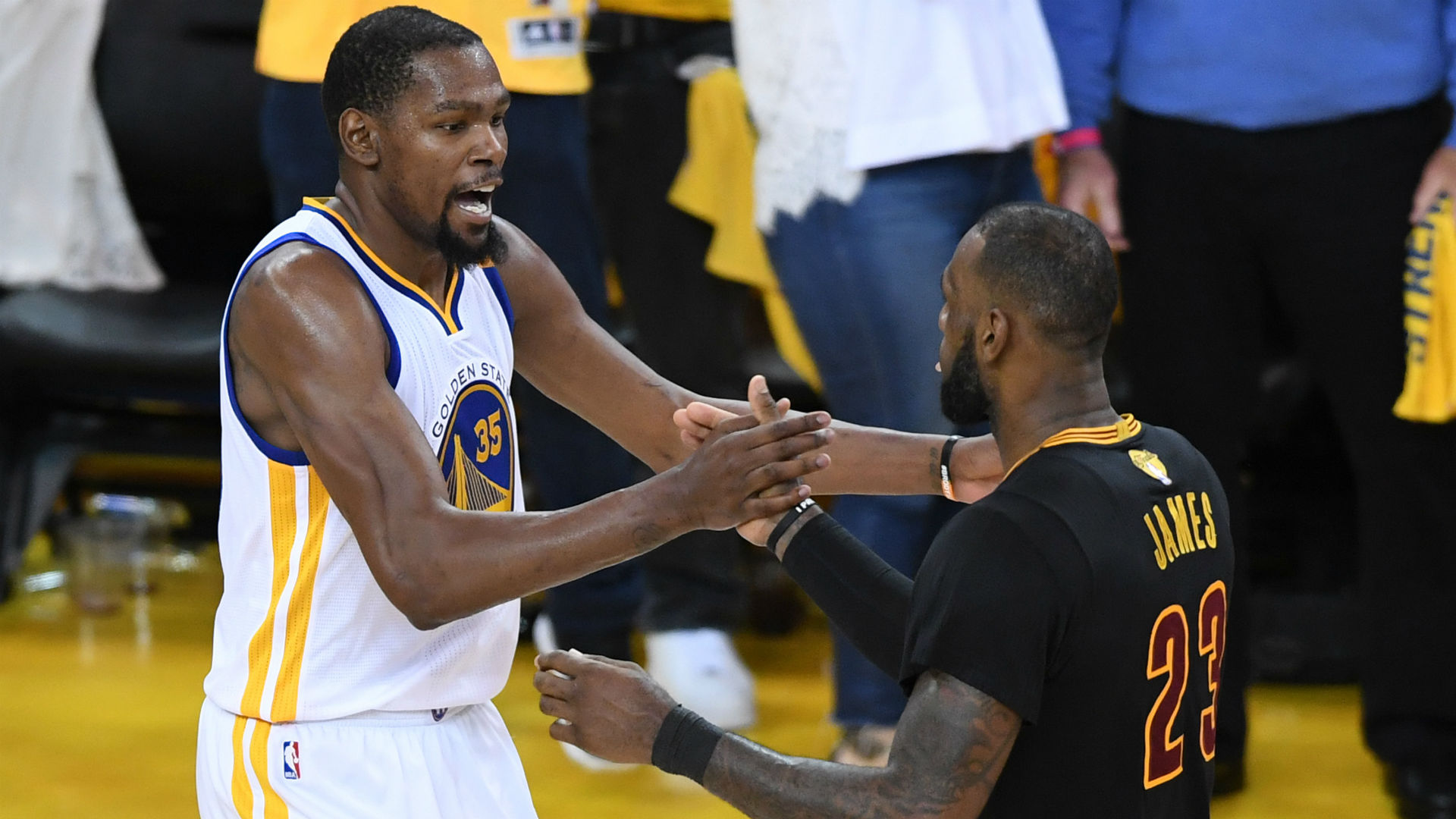 Kevin Durant Denies Report Of Talking To Draymond Green After Game 7
