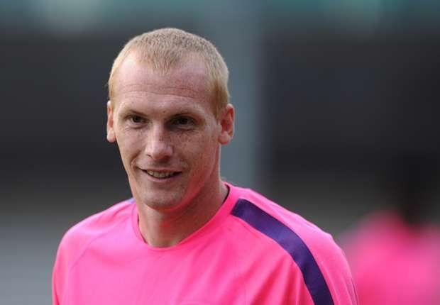 Mathieu entrenando con el Barcelona