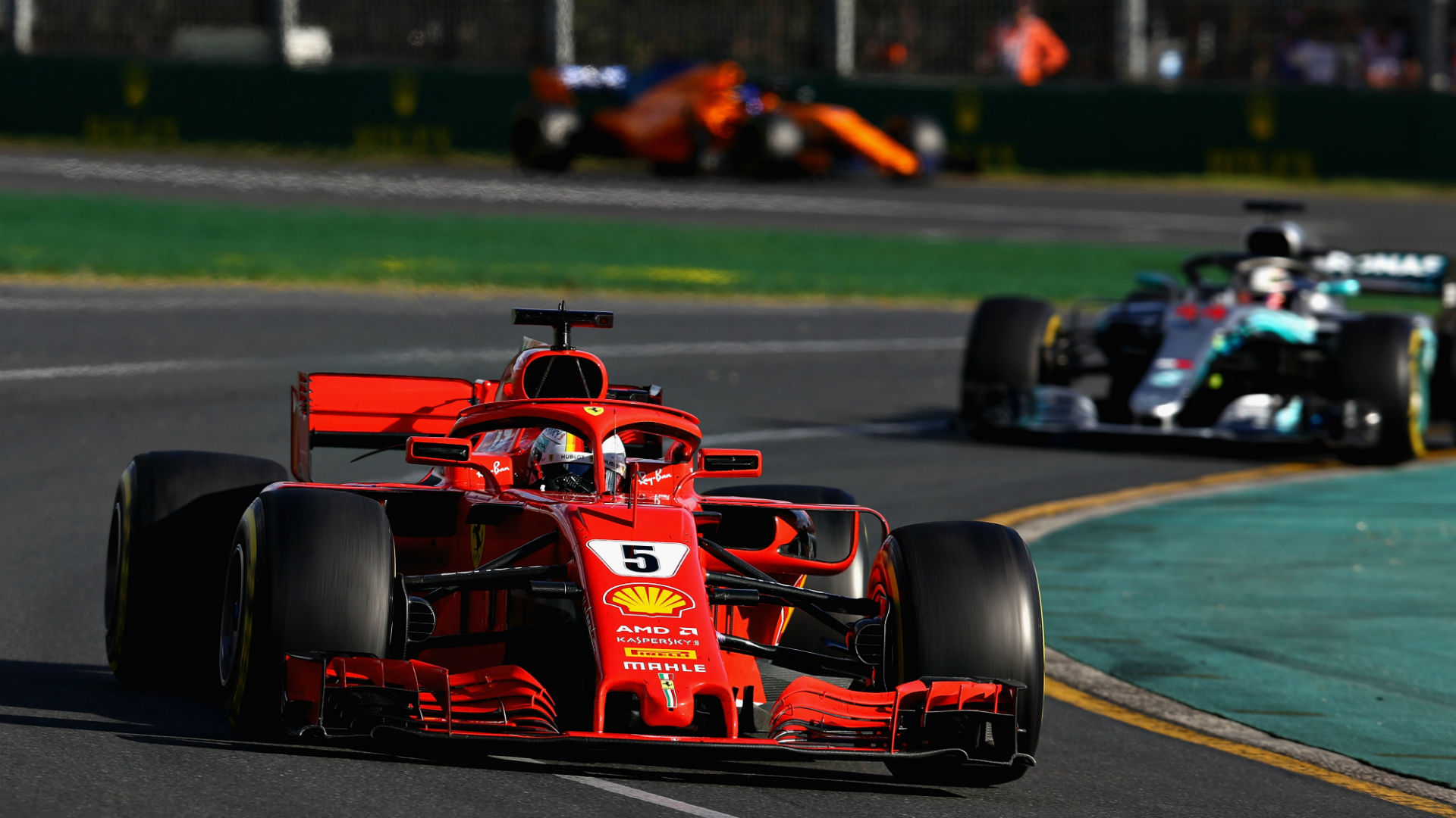 Sebastian Vettel wipes smile off Lewis Hamilton's face in Melbourne