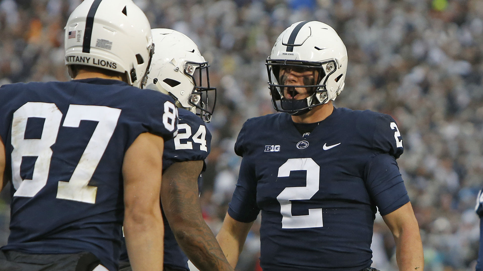 Penn State QB returns to game, leaves again