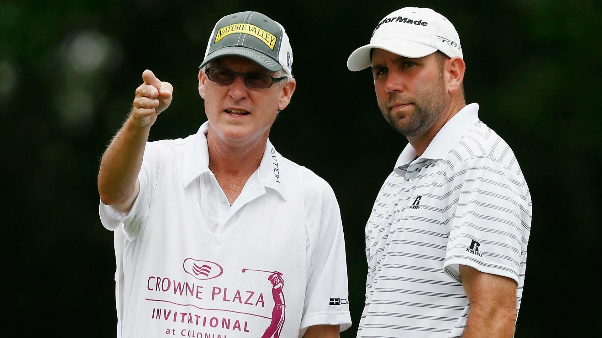 Former PGA Tour caddie Mike Hicks (left) with Josh Teater