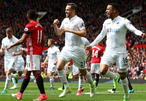 Image result for Manchester United1 1Swansea City Premier League
