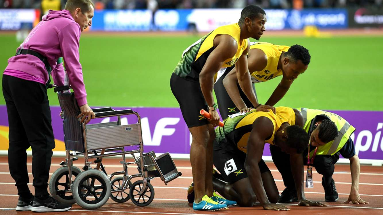 Bolt's farewell spoiled by cramp, Felix makes history