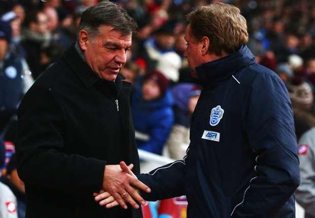 QPR boss Redknapp not expecting West Ham return