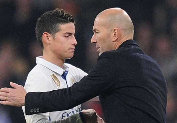 Image result for Zidane dismisses James Real Madrid exit talk