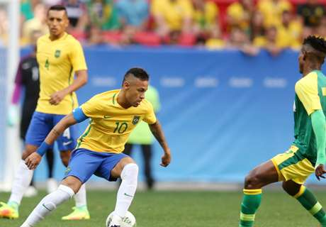Brazil held by 10-man South Africa