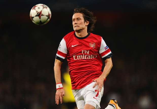 Broken nose set to rule Rosicky out of Fulham clash