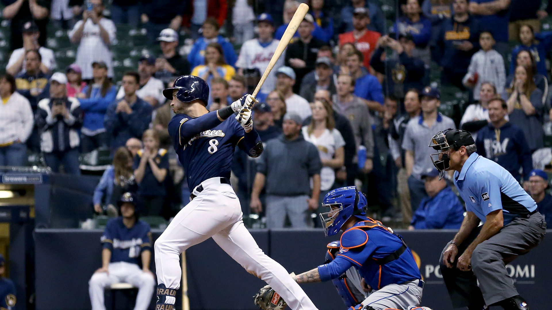 MLB wrap: Brewers come from behind to beat Mets in 18 innings
