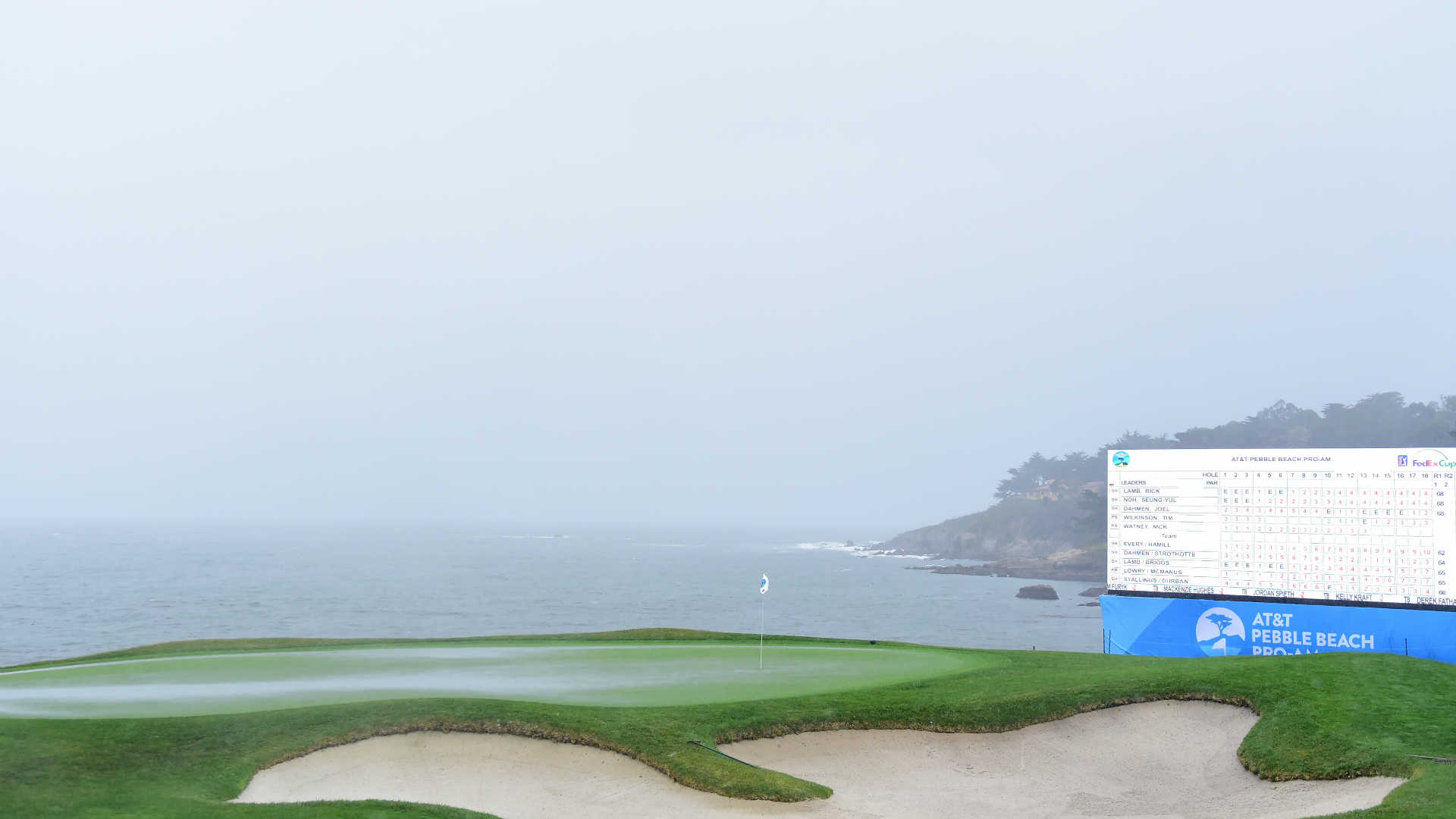 look  players are in a fog as pebble beach pro