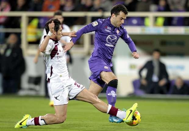 Giuseppe Rossi vom AC Florenz ist wohl doch nicht so schwer verletzt