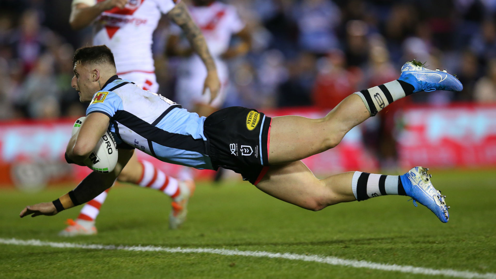 Bronson Xerri scored a late try for Cronulla Sharks