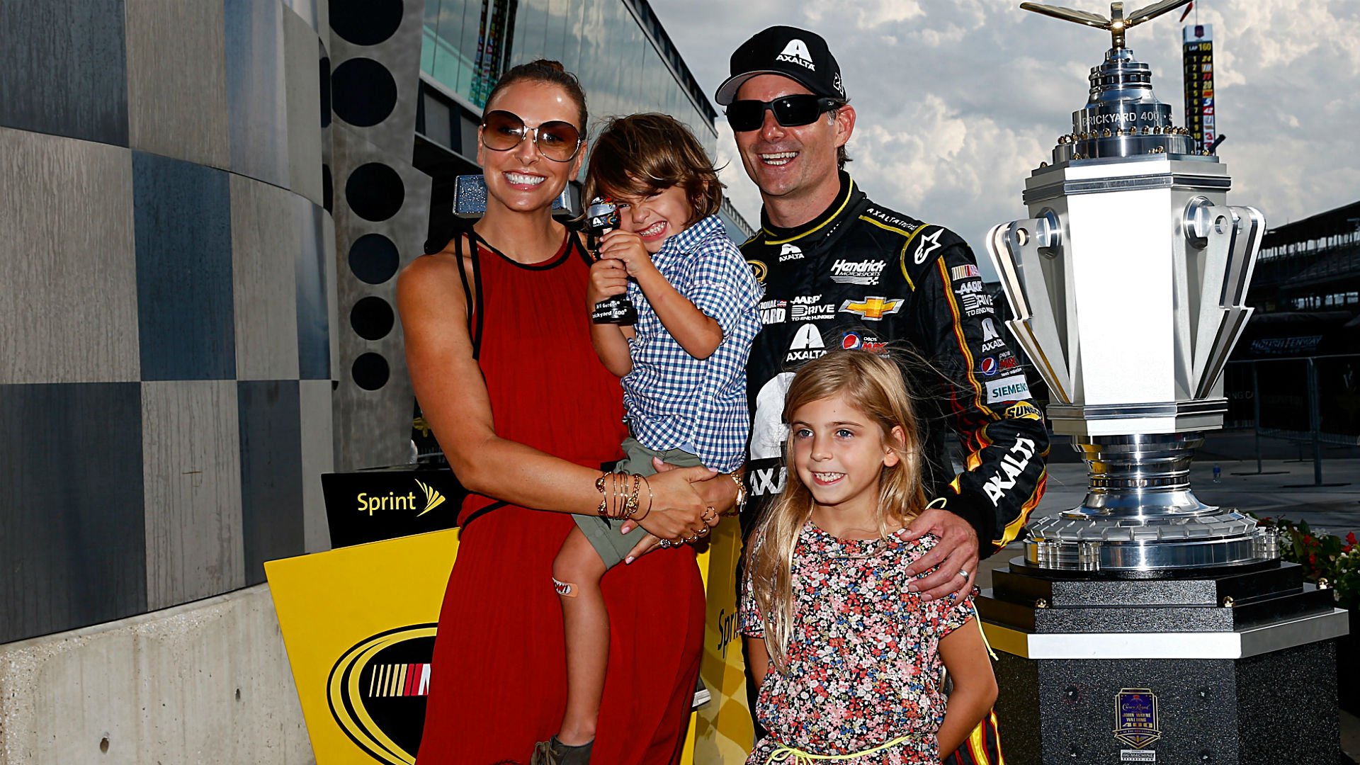 Jeff Gordon's family