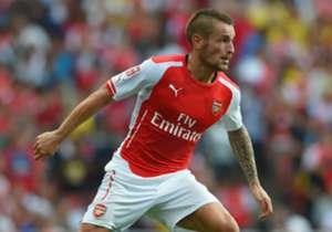 Arsenal full-back Mathieu Debuchy