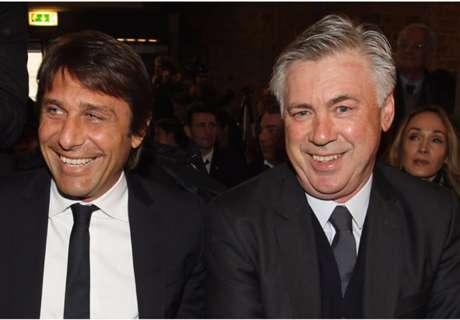 Italy considering Ancelotti, Conte and Allegri for coach