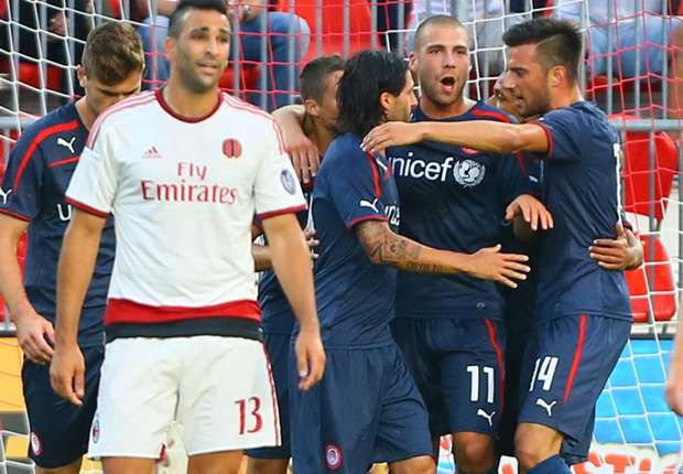 Balotelli-less Milan embarrassed by Olympiakos