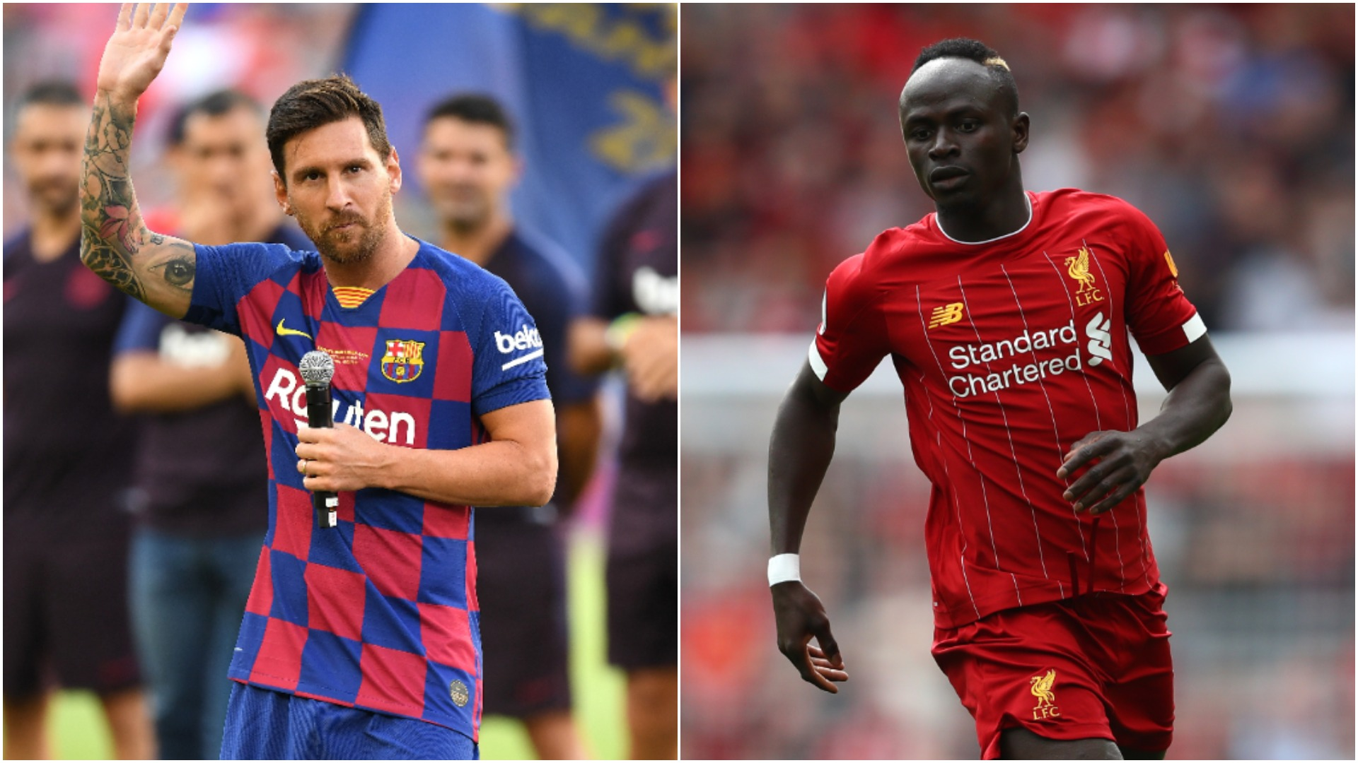 Lionel Messi and Sadio Mane