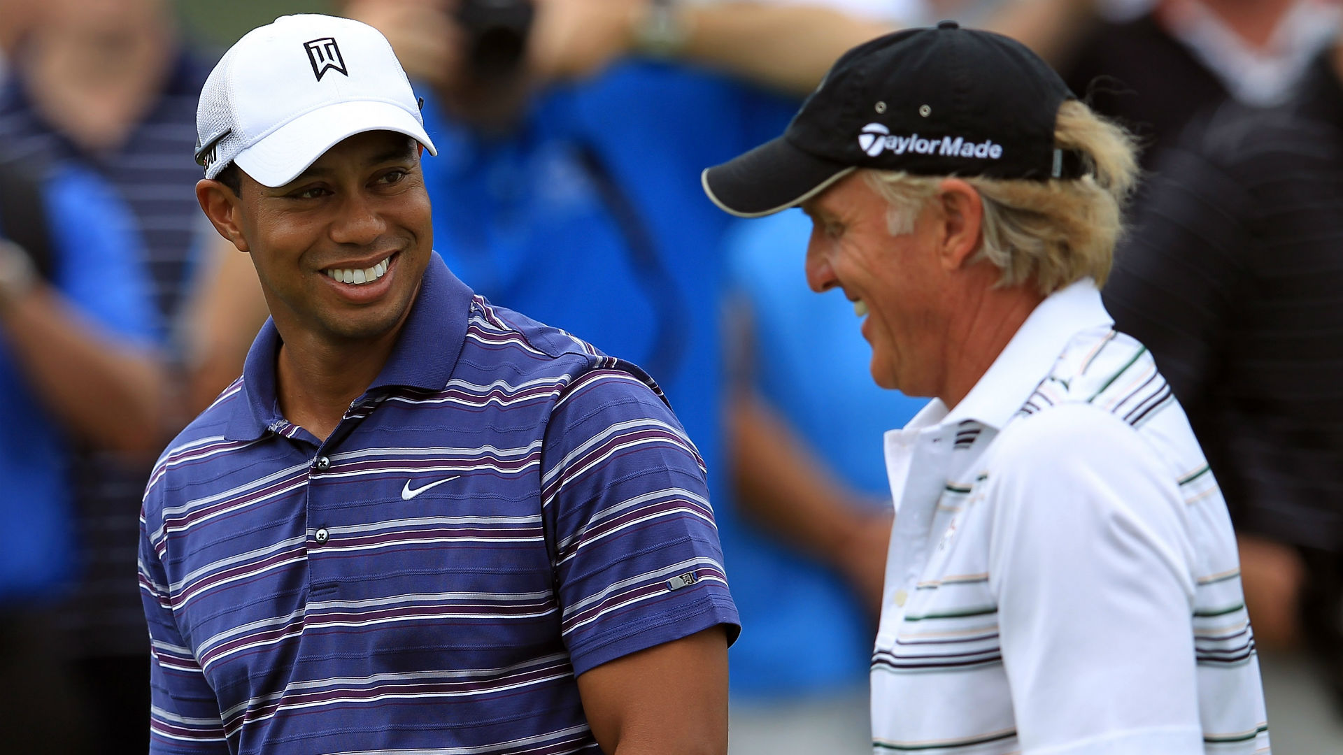 Tiger Woods, Greg Norman in 2011