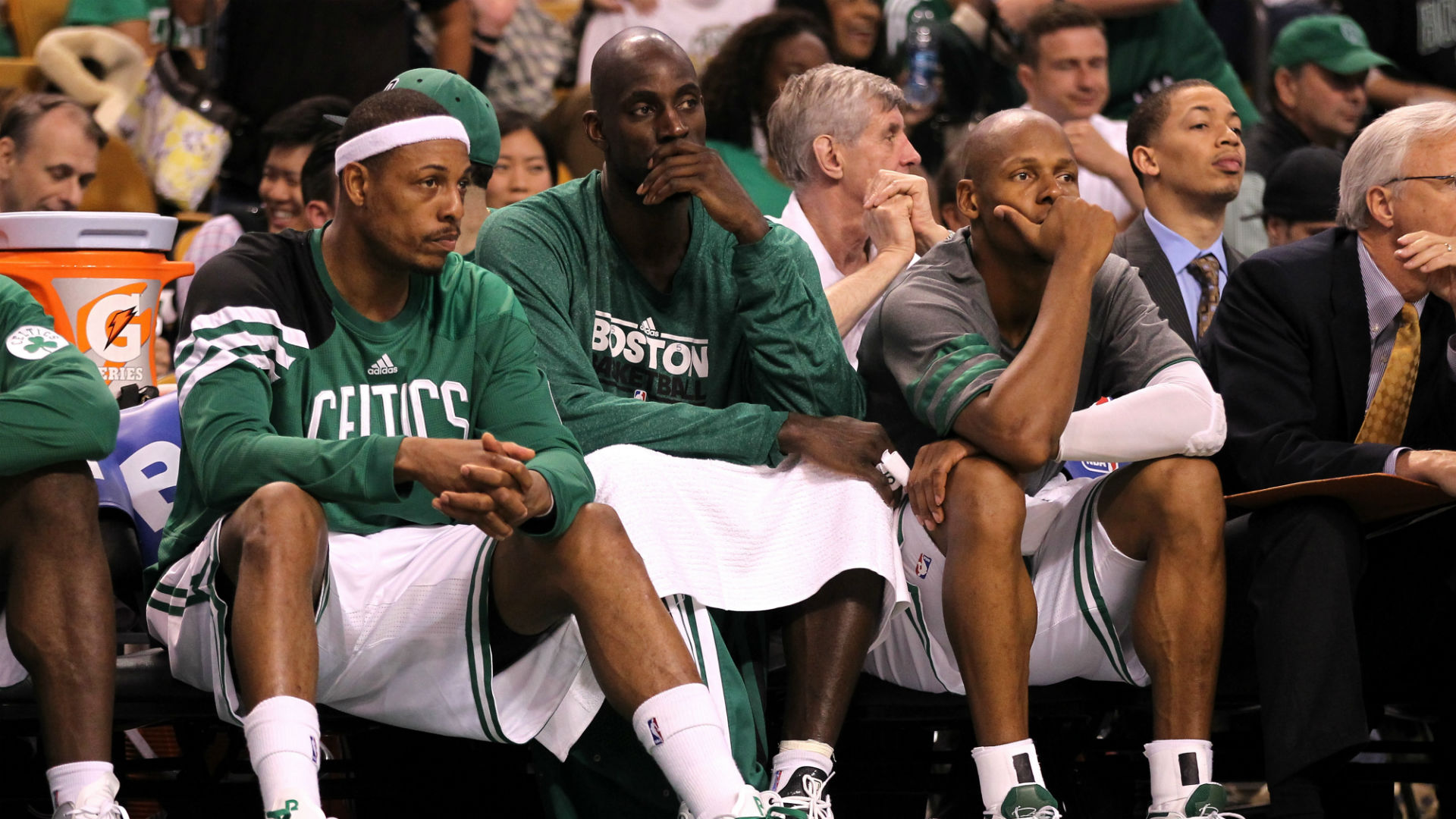 Paul Pierce Kevin Garnett and Ray Allen with Celitcs